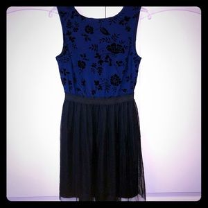Speechless Juniors' Navy & Black Fit and Flare